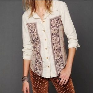Free People Born Free Bandana Button Down